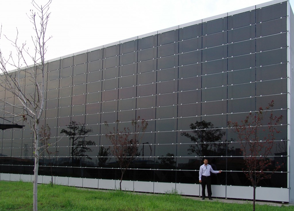 Solar Curtain on Factory Warehouse